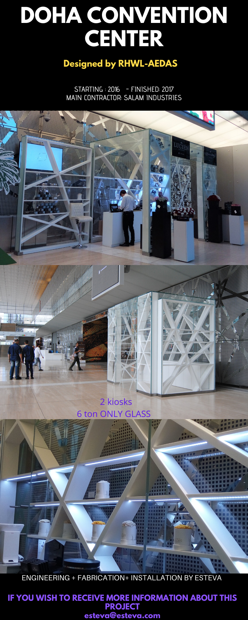 DOHA CONVENTION CENTER GLASS KIOSK