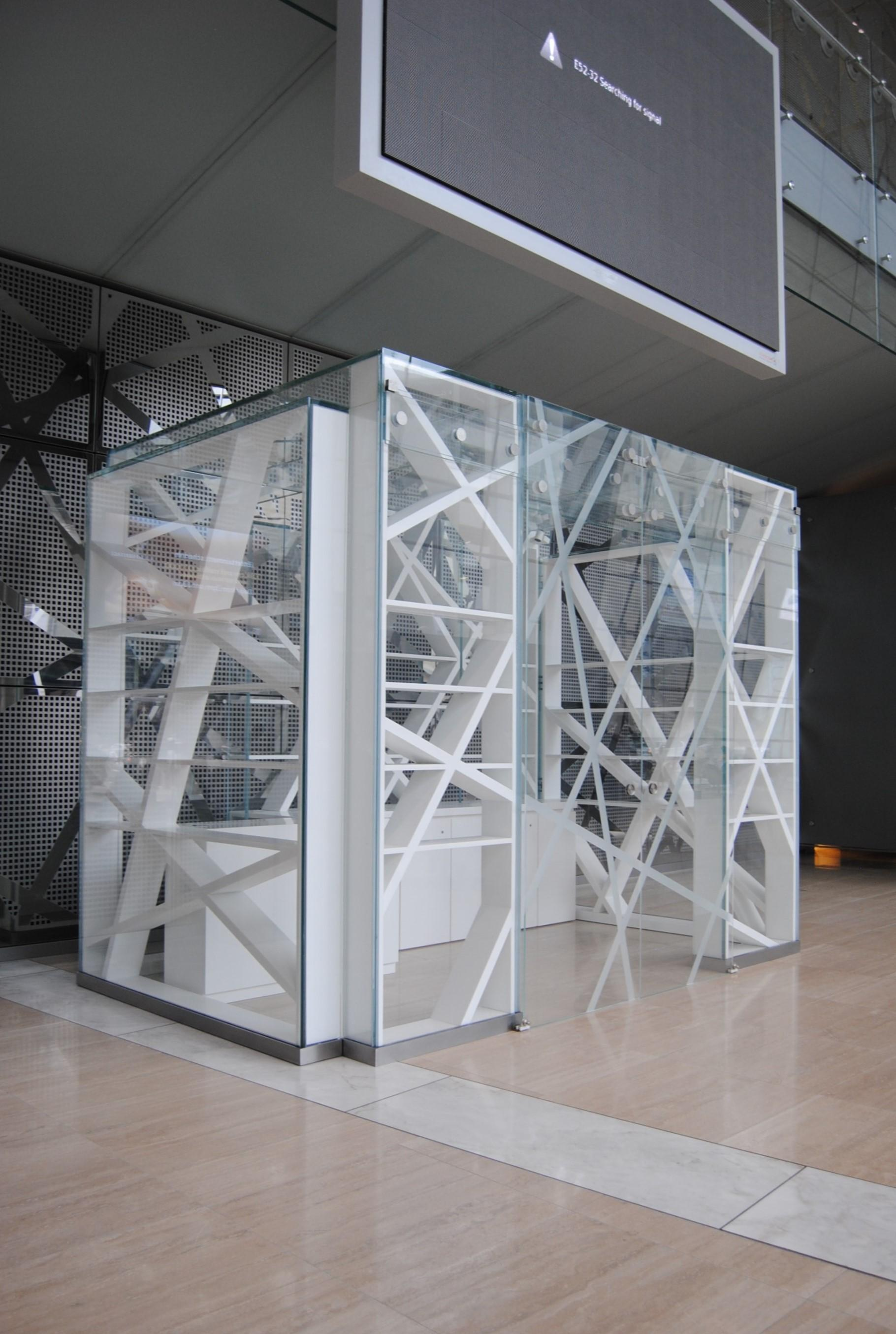 Full glass kiosks